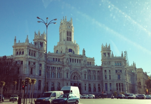 one of my favourite buildings ever ever ever: Plaza de Cibeles