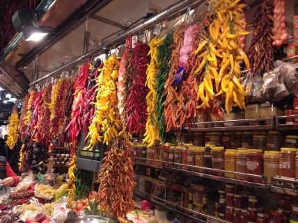 hot stuff at La Boqueria