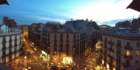 view of Barcelona from our hotel rooftop. not too bad, huh?