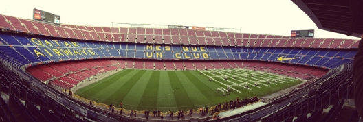 Camp Nou. absolutely amaziiiiiiiiiiiiing experience.