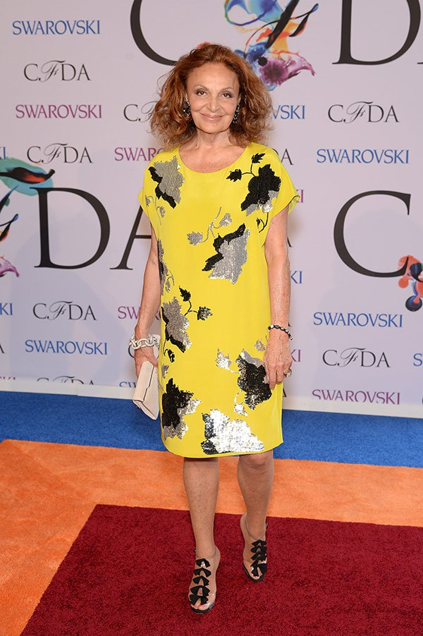 the only actual fashion designer who looked like they have a job in fashion. DVF, I salute you.